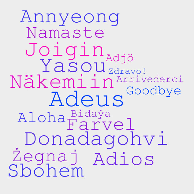 Learn to say goodbye in 50 different languages m4hsunfo